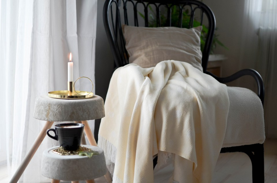 vintage chair and candle