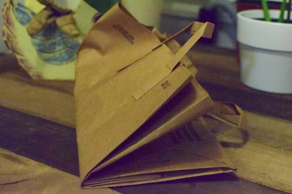compost brown paper bag