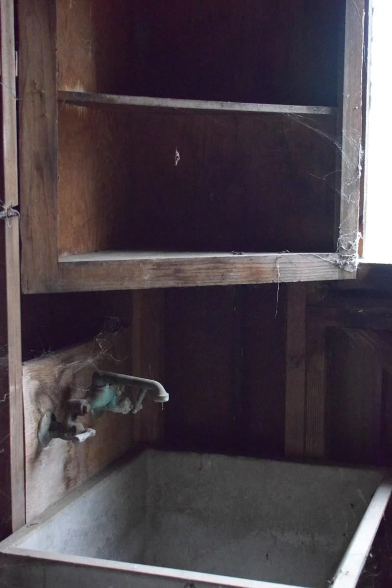 old garden shed sink