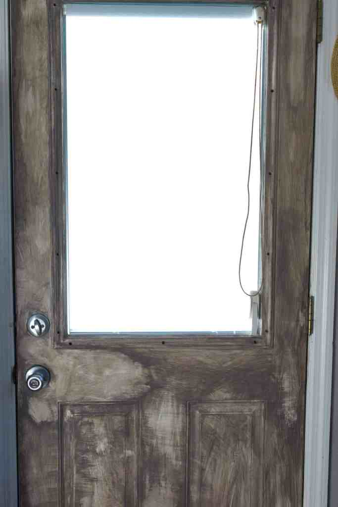 a dry brushed door that looks distressed