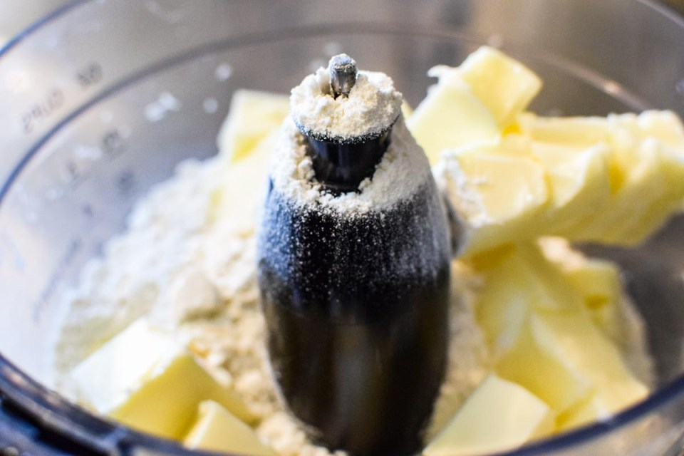 butter and flour in food processor