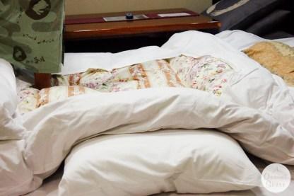 fukuoka, onsen resort, futon bed