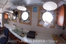 inside of the research vessel