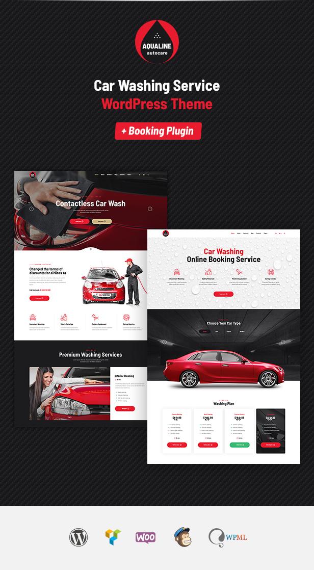 Aqualine - Car Washing Service with Booking System WordPress Theme - 5