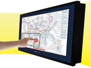 Touch TV Map & Travel Display Screens