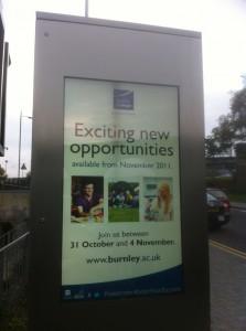 Outdoor Digital Signage Installation - Burnley College