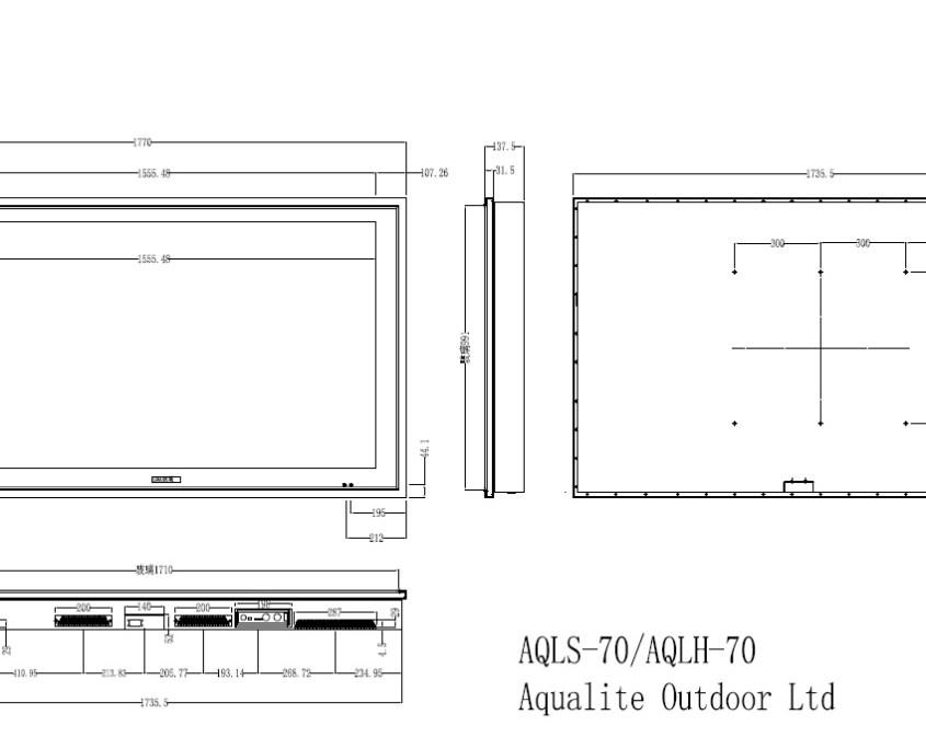 AQLS-70 Outdoor TV