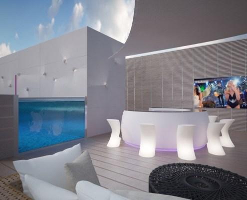 Swimming Pool TV Screens