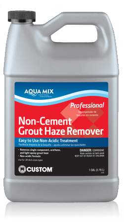 Non-cement grout haze remover