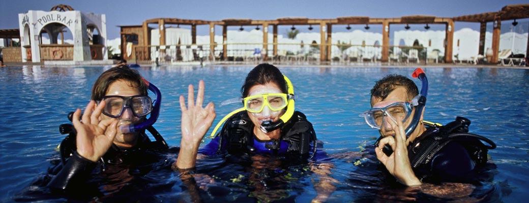 Schwimmbadtraining