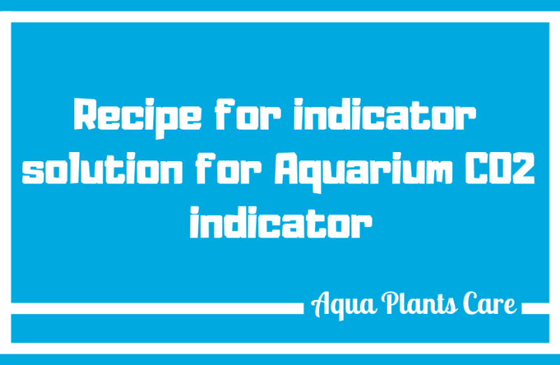 Recipe for 4dKH solution for the indicator planted fish tank Aqua Plants Care