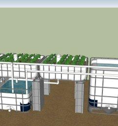 ibc aquaponics system plans [ 1812 x 855 Pixel ]