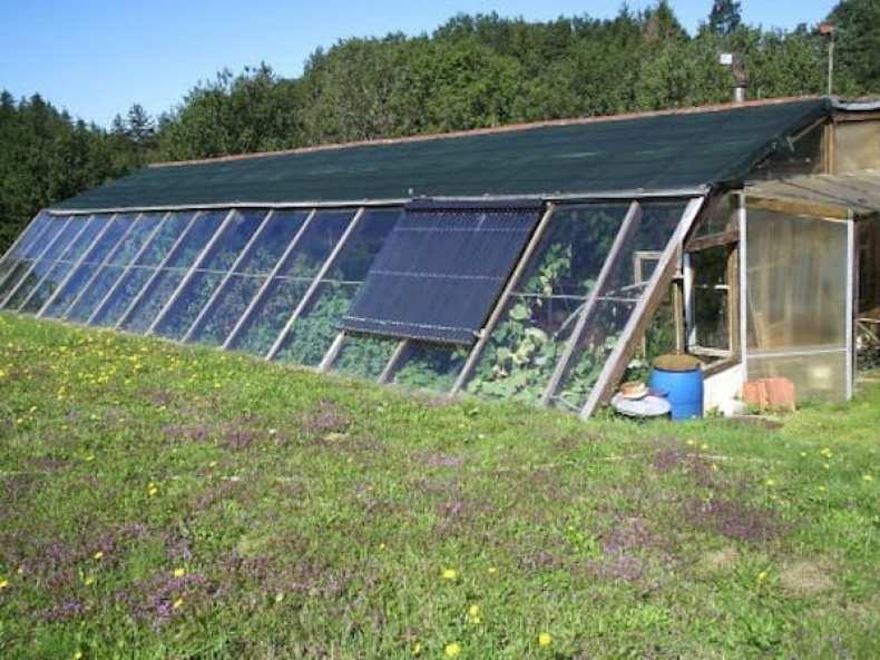 Aquaponie et bioclimatique cr er un micro climat 2 2 - Serre de jardin adossee au mur ...