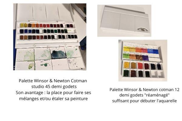 choisir son matériel pour débuter l'aquarelle palette winsor & newton cotman