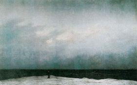 Friedrich Caspar David, Moine au bord de la mer, vers 1808, Nationalgalerie (SMB), Berlin, Allemagne,