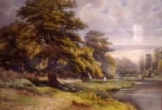 Armand Cassagne (1823-1907), Chênes de l'étang de Cernay, aquarelle, disponible sur http://www.amismusee-melun.com/la-donation-cassagne/les-aquarelles/ (consulté le 29/03/13)