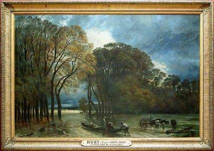 Huet Paul, L'inondation de Saint-Cloud, Huile sur toile, H. : 2,03 m. ; L. : 3 m., Musée du Louvre, Paris © Musée du Louvre/A. Dequier - M. Bard