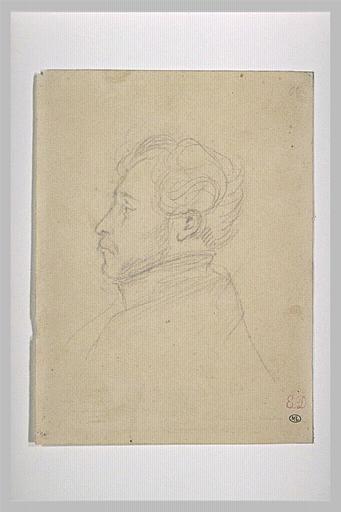 Delacroix Eugène, Portrait de Charles de Mornay, Mine de plomb, s.d., H. 18,1 x L. 13, 6 cm, Musée du Louvre, Département des Arts Graphiques © Réunion des musées nationaux - utilisation soumise à autorisation