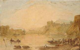 William Turner (1775-1851), Vue du Rhin supérieur, aquarelle, date inconnue, Tate Gallery, Londres, Disponible sur http://www.tate.org.uk/art/artworks/turner-on-the-upper-rhine-tw2216 (Consulté le 25/03/13)