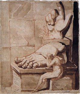 Henry Fuseli, Artisti moved to despair, encre et aquarelle sur papier, probablement vers 1790, disponible sur wikipédia (consulté le 2/04/13)