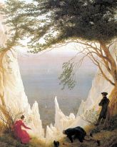 Friedrich Caspar David, Les falaises blanches de Rügen, 1818-1819, Huile sur toile, 0,900 x 0,710 m., Museum Oskar Reinhart am Stadtgarten, Winterthour, Suisse - Image Wikimédia Commons