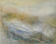Joseph Mallord William Turner, The Falls of the Rhine at Schaffhausen. Verso: A Large Sailing Vessel Surrounded by Other Smaller Boats, ?1841, Courtauld Institute Gallery, London © Courtauld Institute Gallery, London