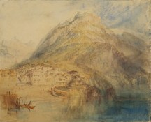 J.M.W. Turner (1775-1851), Brunnen, Lac Lucerne, vers 1843-44, Aquarelle sur papier - 24 x 29,7 cm, Londres, The Courtauld Gallery Photo : The Samuel Courtauld Trust, The Courtauld Gallery
