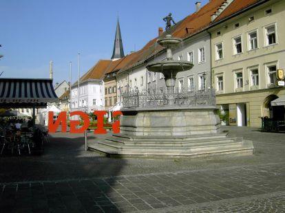 kirche, church, église, tor, gate, porte, tür, door, porte, st. veit an der glan, hauptplatz