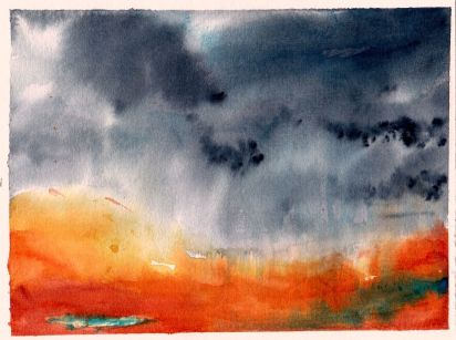 aquarell, watercolor, aquarelle, acquerello, acuarela, regen, rain, pluie, pioggia, lluvia, landscape, paysage, paesaggio, paisaje, regen, rain, pluie, pioggia, lluvia, sturm, storm, tempête, bufera, tempestad,