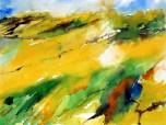 aquarell, watercolor, aquarelle, acquerello, acuarela, gelb, yellow, jaune, giallo, amarillo, feld, felder, field, fields, champ, champs, campo, raps, canola, colza, waldviertel, rapsfelder