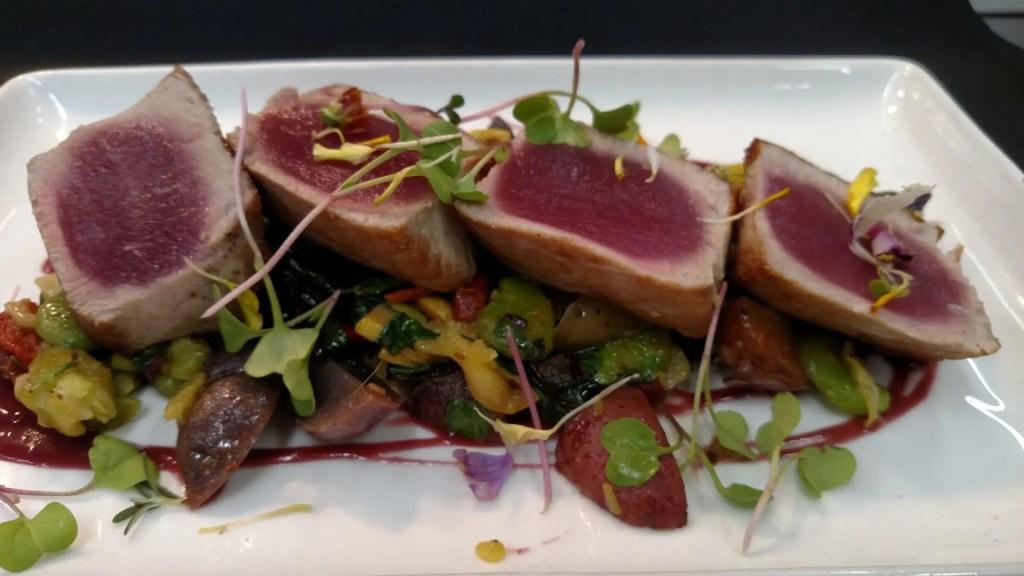 Big Eye Tuna at AQUA Restaurant Duck NC