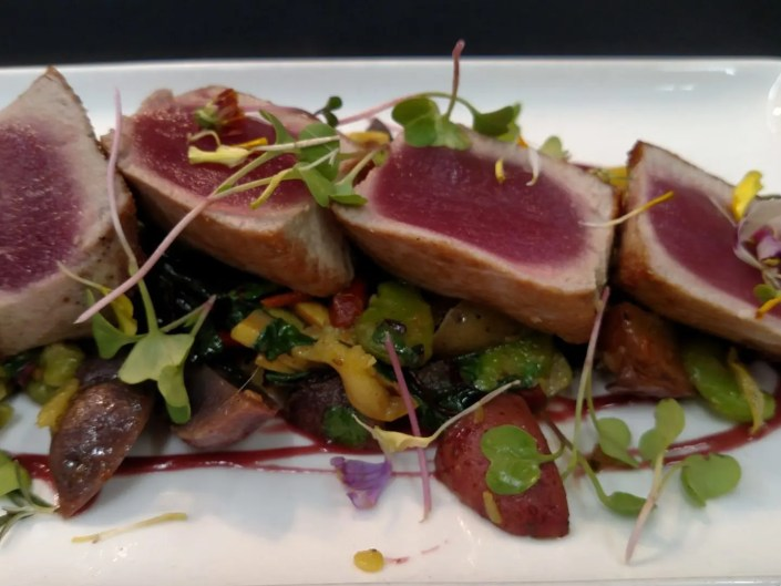 Big Eye Tuna at AQUA Restaurant Duck NC