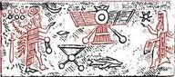 rocket from Nibiru to Earth drawing ancient
