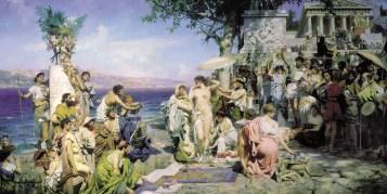 Legacy of the Gods phryne-on-the-poseidon-s-celebration-in-eleusis