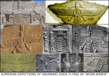 Sumerian Anunnaki Flying Whirlwinds