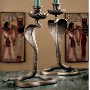 Design-Toscano-Uraeus-Royal-Egyptian-Cobra-Foundry-Candlestick-SP16729