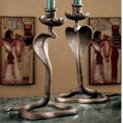 Design-Toscano-Uraeus-Royal-Egyptian-Cobra-Foundry-Candlestick-SP16729