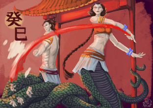 year_of_snake__fu_xi_and_nuwa_by_leniin-d5ubup9