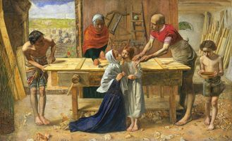 512px-John_Everett_Millais_-_Christ_in_the_House_of_His_Parents_(`The_Carpenter's_Shop')_-_Google_Art_Project