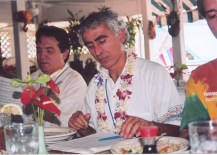 Alfred Webre & Michael Salla at working lunch