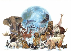 Earth with animals 3BB
