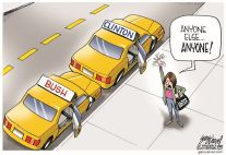 Bush Clinton cartoon1