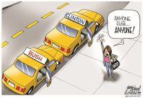 Bush Clinton cartoon1