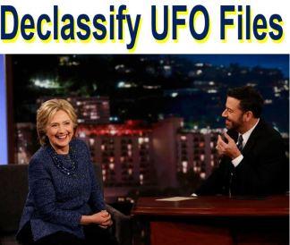 Declassify-UFO-files-Hillary-Clinton