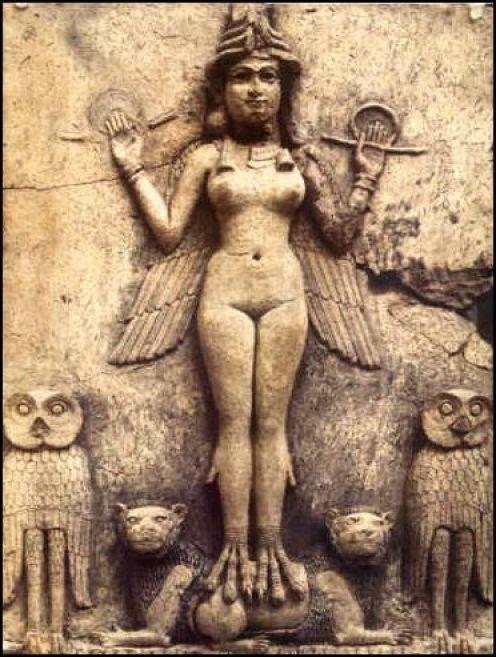Inanna & her owls burneyrelief