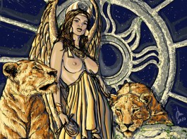 inanna-with-lions