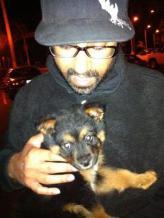 Neil Gaur & Puppy me