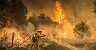 Climate Change firefighter images