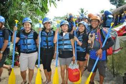 With our guide before jumped into the water