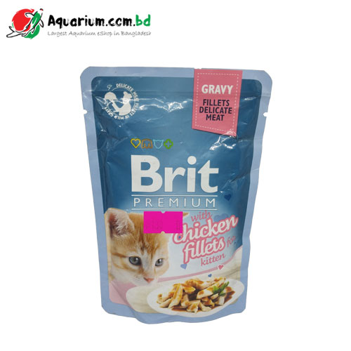 Brit Premium Cat Pouch with Chicken Fillets in Gravy for Kitten